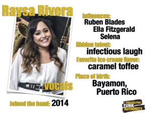 RAYSA RIVERA - VOCALS