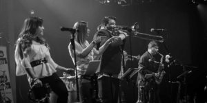 Philadelphia Funk Authority at Musikfest Cafe, black and white